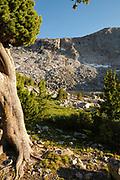 Sunset at Little Valentine Lake, Shoshone National Forest, Wind River Range, Wyoming.
