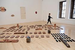 Exhibition by Lucy Skaer entitled La Chasse at the Talbot Rice Gallery in University of Edinburgh,Edinburgh, Scotland, UK