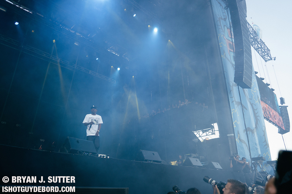 Kendrick Lamar during day 2 of Lollapalooza 2013 on August 3rd, 2013.