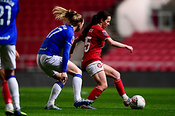 Olivia Chance of Bristol City is marked by Lucy Graham of Everton Women - Mandatory by-line: Ryan Hiscott/JMP - 17/02/2020 - FOOTBALL - Ashton Gate Stadium - Bristol, England - Bristol City Women v Everton Women - Women's FA Cup fifth round