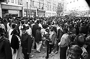 View of crowd, Notting Hill Carnival, London, 1989