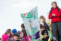 Fans during Women 7.5 km Sprint at day 1 of IBU Biathlon World Cup 2014/2015 Pokljuka, on December 18, 2014 in Rudno polje, Pokljuka, Slovenia. Photo by Vid Ponikvar / Sportida