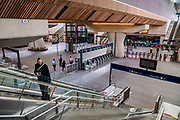 Commuter numbers are down dramatically in the London Bridge station, even during rush hour as people heed government guidance to go back to work but to keep your distance.  The first day the 'lockdown' is eased for the Coronavirus (Covid 19) outbreak in London.