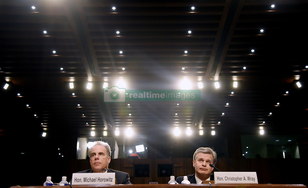 FBI Director Wray And Justice IG Horowitz Testify At Senate Hearing