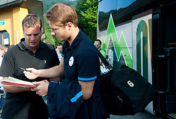 Gregor Balazic of Slovenia prior to the friendly football match between national teams of Slovenia and Greece, on May 26, 2012 in Kufstein, Austria.   (Photo by Vid Ponikvar / Sportida.com)