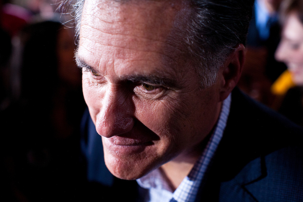 Republican presidential candidate Mitt Romney holds a campaign rally on Wednesday, January 18, 2012 in Rock Hill, SC.