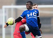 FODBOLD: Samson Iyede (Fremad Amager) under træningskampen mellem Fremad Amager og FC Helsingør den 2. februar 2019 i Sundby Idrætspark. Foto: Claus Birch