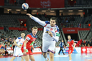 Bojan Beljanski (Serbia) during the EHF 2018 Men's European Championship, 2nd Round, Handball match between Serbia and Norway on January 18, 2018 at the Arena in Zagreb, Croatia - Photo Laurent Lairys / ProSportsImages / DPPI