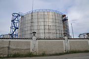 Fuel and crude oil storage tank. Photographed at Batumi, Georgia
