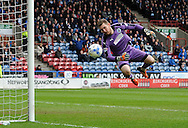 Jed Steer of Huddersfield Town saves during the Sky Bet Championship match at the John Smiths Stadium, Huddersfield agsainst Burnley<br /> Picture by Graham Crowther/Focus Images Ltd +44 7763 140036<br /> 12/03/2016