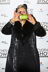 © Licensed to London News Pictures.  07/12/2012. BIRMINGHAM, UK. TV presenter Caryn Franklin (pictured) is seen during the opening photo call for the Clothes Show Live event being held in the NEC, Birmingham. The show opens today and runs until Tuesday. Photo credit :  Cliff Hide/LNP