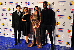 © Licensed to London News Pictures. 16/12/2011. London, England. Iwan Rheon , Antonia Thomas , Lauren Socha and Nathan Stewart-Jarrett attend the Channel 4 British Comedy Awards  in Wembley London .  Photo credit : ALAN ROXBOROUGH/LNP