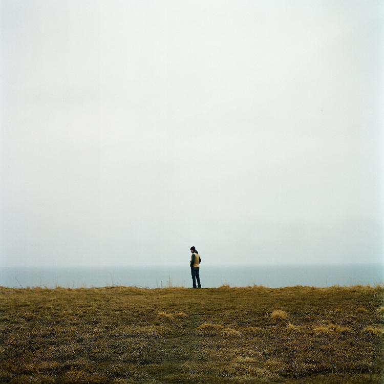 ALASKA - 2009: Singer songwriter, Evan Phillips.
