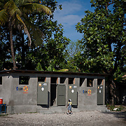 The Pyramide School in Leogane was damaged by the earthquake. CARE is supporting the school with water and sanitation programs like building latrines and hand washing stations.