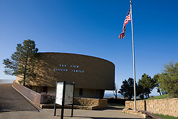 The Far View Visitor Center, location where tickets to many of the Pueblo ruins in the park are sold, Mesa Verde National Park, near Cortez, Colorado.