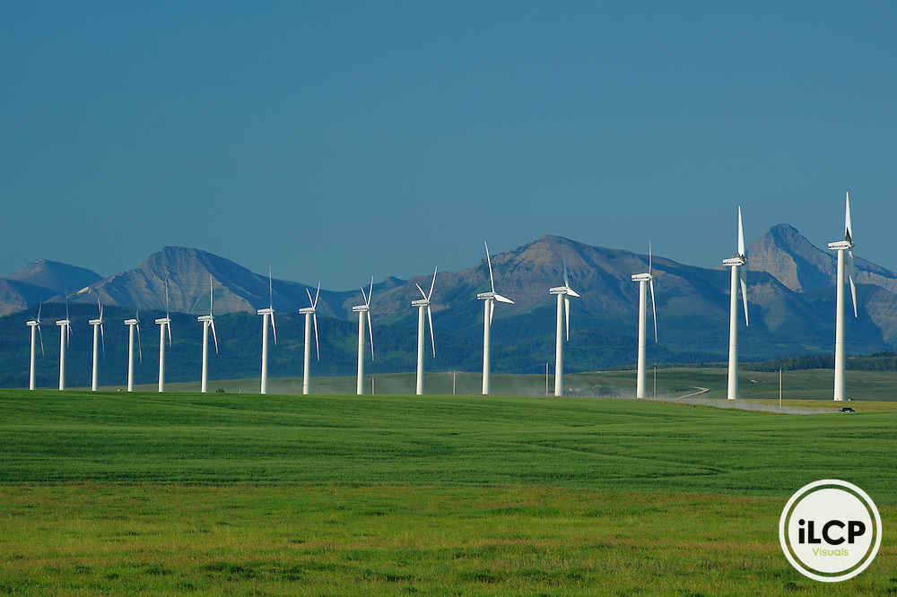 Wind Turbines in the afternoon, Flathead valley