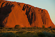 Ayers rock at sunset on Christmas Eve.
