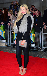 Nicola McLean attends Muppets Most Wanted VIP film screening of sequel to last year's comedy, which sees the return of the Muppets as they embark on a global tour, getting caught up in an international crime caper at Curzon Mayfair, London, United Kingdom. Monday, 24th March 2014. Picture by Nils Jorgensen / i-Images