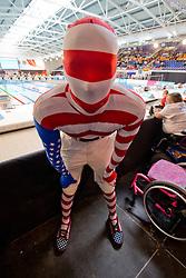 Ryan Duemlet - patriotic support  at 2015 IPC Swimming World Championships -
