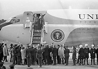 American President Richard Nixon's Departure from Dublin Airport, circa October 1970 (Part of the Independent Newspapers Ireland/NLI Collection).
