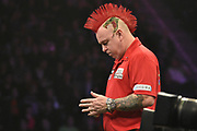 Peter Wright  during the Betway Premier League Darts at the Manchester Arena, Manchester, United Kingdom on 23 March 2017. Photo by Mark Pollitt.