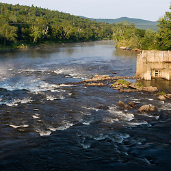 The site of the breached Wyoming Dam on the Connecticut River in Guildhall, Vermont.