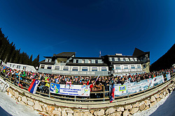Spectators during Women 12,5 km Mass Start at day 4 of IBU Biathlon World Cup 2014/2015 Pokljuka, on December 21, 2014 in Rudno polje, Pokljuka, Slovenia. Photo by Vid Ponikvar / Sportida
