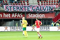 Alkmaar, 19-08-2017, AZ - ADO Den Haag, spandoek AZ speler Calvin Stengs