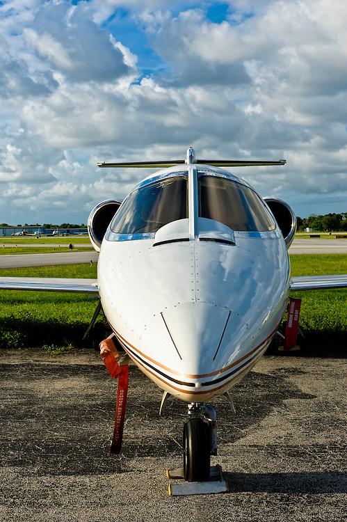 Executive jet in tamrac in regional airport