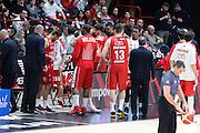 Team EA7 Olimpia Milano, EA7 Emporio Armani Milano vs Germani Basket Brescia LBA serie A 4^ giornata di ritorno stagione 2016/2017 Mediolanum Forum Assago, Milano 12/02/2017