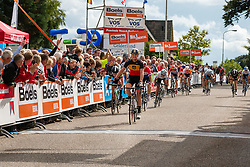 Jolien D'Hoore of Wiggle Honda winning the sprint during the Holland Ladies Tour at the finish, 's-Heerenberg, Gelderland, The Netherlands, 1 September 2015.<br /> Photo: Pim Nijland / PelotonPhotos.com