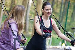 Iris Mulej, Miss Slovenia 2006, doing her exercises at Castle Brdo, on April 10, 2012, in Kokrica at Kranj, Slovenia (Photo by Crt Slavec)