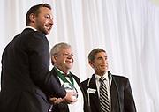 David Palmer accepts the Honorary Alumnus award at the Alumni Awards Gala on October 6, 2017.