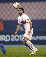 Fussball International, Nationalmannschaft   EURO 2012 Play Off, Qualifikation, Kroatien - Tuerkei       15.11.2011 Halil Altintop (Tuerkei)