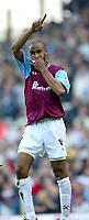 Photo Aidan Ellis.<br />West Ham United v Sunderland (FA Barclaycard Premiership) 22/03/03.<br />West Ham's Freddie Kanoute celebrates his goal