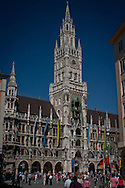 Neues Rathaus is the New Town Hall in Munich, a Bavarian city in Germany. It is situated on the northern side of Marienplatz. It is home to the city government and was built between 1967 and 1908.