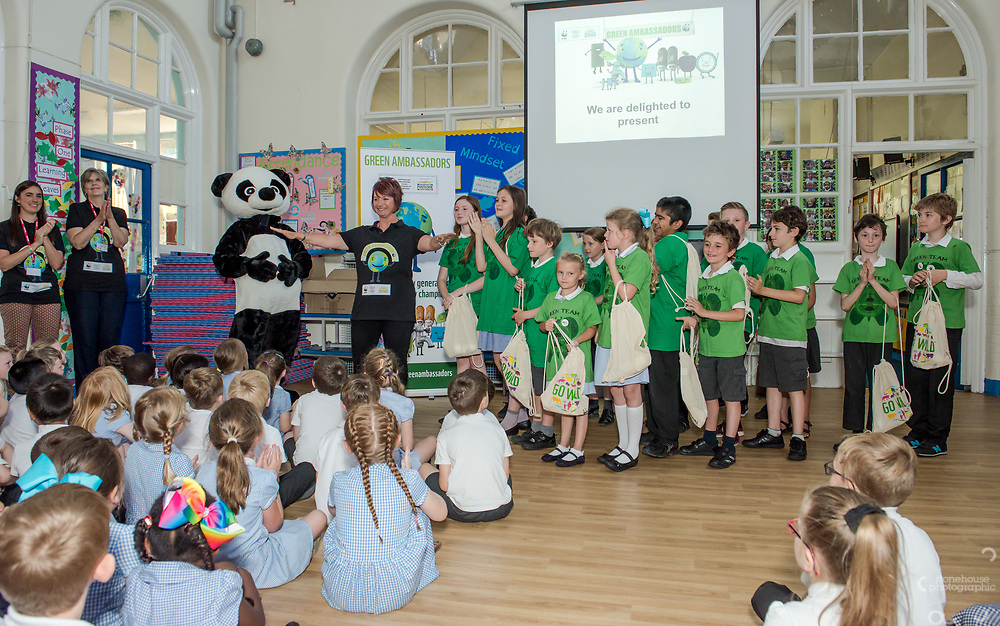 WWF UK Green Ambassador awards presented to Victoria Park Primary School, Bedminster, Bristol on 6th July, 2017.