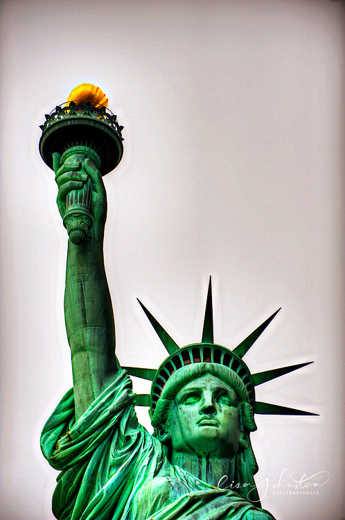 Statue of Liberty, Liberty Island, New York. The statue was a gift from France to the United States of America and is a symbol of liberty in the nation.  Photo by Lisa Johnston