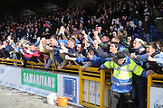 Dundee fans celebrate David Clarkson's opener - Inverness v Dundee  - SPFL Premiership at the Caledonian Stadium<br /> <br />  - &copy; David Young - www.davidyoungphoto.co.uk - email: davidyoungphoto@gmail.com