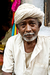 Fabric vendor. Photo taken while traveling in Rajasthan, India, with Steve McCurry.