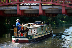 UK ENGLAND LEICESTER 30JUN15 - Canal boat on the river Soar at Leicester city.<br /> <br /> jre/Photo by Jiri Rezac / WWF UK<br /> <br /> © Jiri Rezac 2015