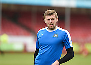 Plymouth forward Ryan Brunt before the Sky Bet League 2 match between Crawley Town and Plymouth Argyle at the Checkatrade.com Stadium, Crawley, England on 20 February 2016. Photo by David Charbit.