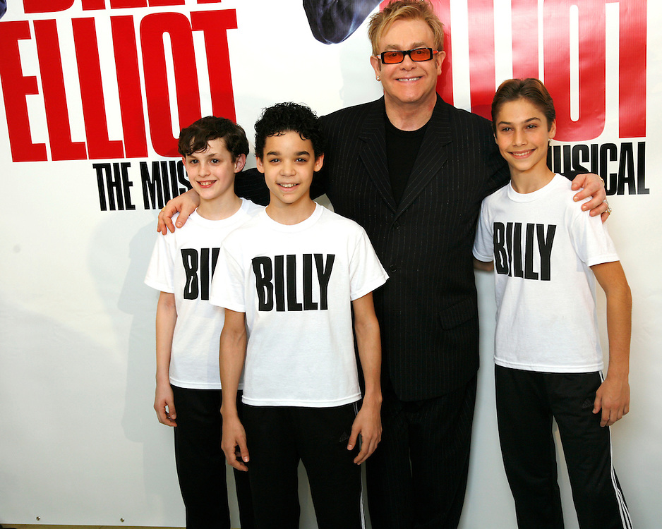 Billy Elliot,.with Elton John.Credit Photo: Peter Lueders/©Paul Kolnik Studio