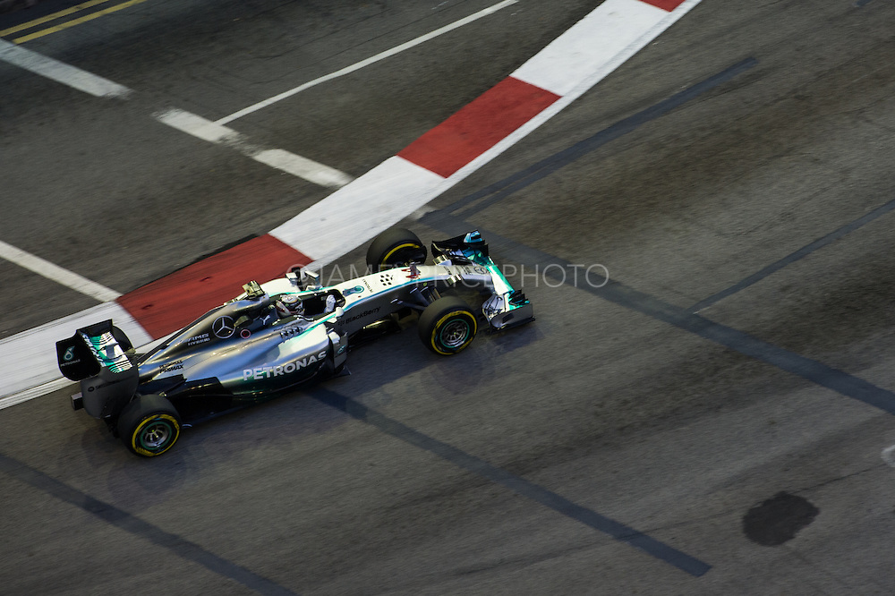 September 18-21, 2014 : Singapore Formula One Grand Prix - Lewis Hamilton (GBR), Mercedes Petronas