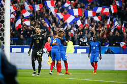 29.03.2016, Stade de France, St. Denis, FRA, Testspiel, Frankreich vs Russland, im Bild lodygin yury, payet dimitri, coman kingsley // during the International Friendly Football Match between France and Russia at the Stade de France in St. Denis, France on 2016/03/29. EXPA Pictures © 2016, PhotoCredit: EXPA/ Pressesports/ Sebastian Boue<br /> <br /> *****ATTENTION - for AUT, SLO, CRO, SRB, BIH, MAZ, POL only*****