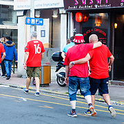 Fans after the England v Wales game at UEFA EURO 2016, 16 June 2016 in Lens Town Centre. Photo: Paul J Roberts | RobertsSports Photo. All Rights Reserved
