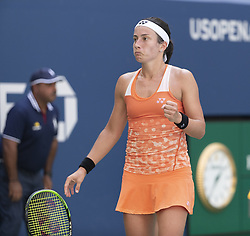 September 4, 2018 - New York, New York, United States - Anastasija Sevastova of Latvia reacts after victory in US Open 2018 quarterfinal match against Sloane Stephens of USA at USTA Billie Jean King National Tennis Center (Credit Image: © Lev Radin/Pacific Press via ZUMA Wire)
