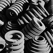 Assorted Large springs from the trains suspension assembly