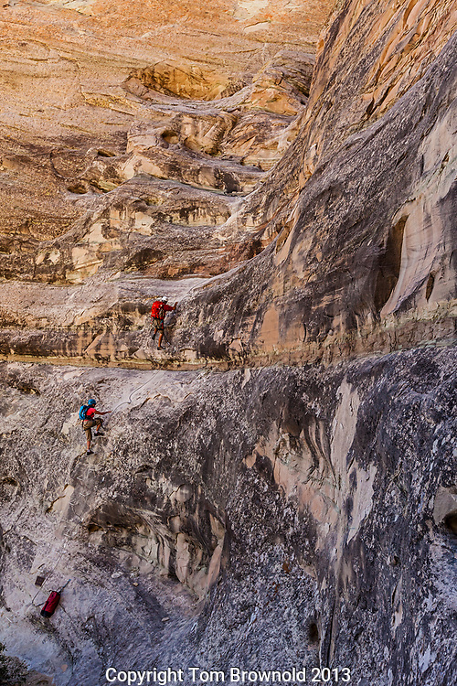 Climbing the Cave via ferratta