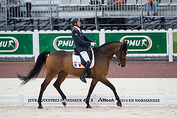Samuel Catel, (FRA), Mogador de Valange - Team Competition Grade III Para Dressage - Alltech FEI World Equestrian Games™ 2014 - Normandy, France.<br /> © Hippo Foto Team - Jon Stroud <br /> 25/06/14